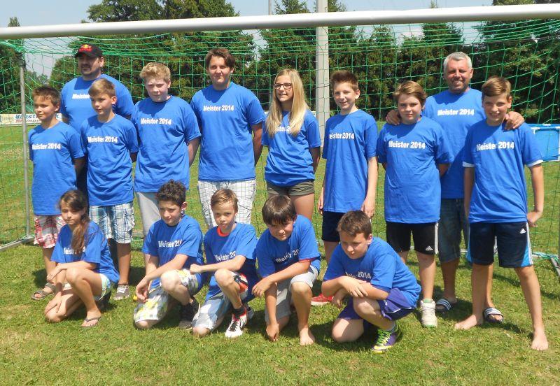 Meisterfoto D-Junioren Gruppe 2014