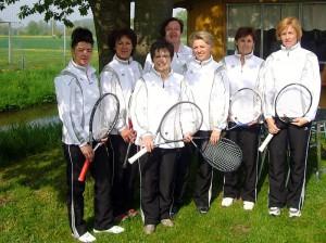 von Links: Bauer Christine, Grieger Evi, Filchner Maria, Vollath Edith, Seibert Resi, Käs Brigitte, Klein Birgit